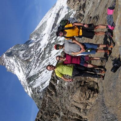 Starting the summer 2020 fieldwork season in the Alps under the iconic Matterhorn, Switzerland (Martina Schön)
