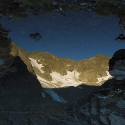 Early morning lake reflection of Marmaduke Dixon glacier, New Zealand (Mike Styllas)