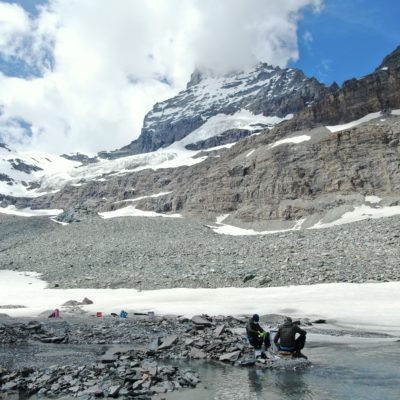 The glacier-fed stream of Furg glacier, Switzerland (Vincent de Staercke)