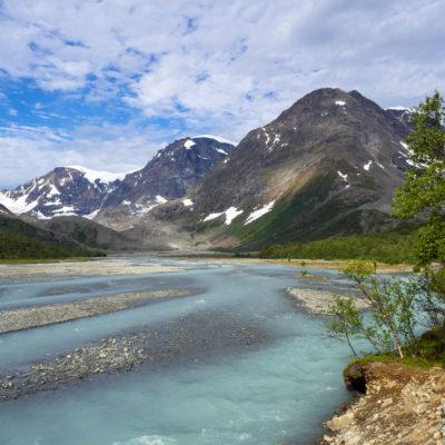 Glacier flour charging off the glaciers of Lyngen Alps, Norway (Vincent de Staercke)